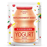 Маска-салфетка увлажняющая и питательная ROREC Replenishment Moist Yogurt Mask (30г)