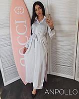 7d8f29c5b77 Шелковое длинное платье - рубашка с разрезами 17032826