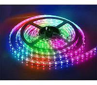 Лента светодиодная без силикона IP20-RGB (60 светодиодов/метр) 5м/рулон SMD 5050 Sanan, 12V