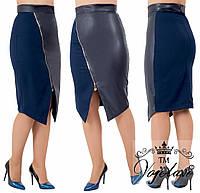 Женская стильная юбка №715 (р.48-62) в расцветках, фото 1