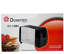 Тостер Domotec DT-1304 кухонная техника металлический корпус, фото 2