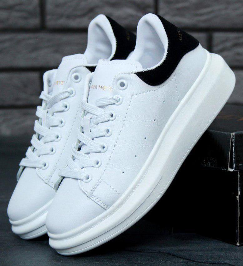 57e64f8f Женские кроссовки Alexander McQueen White Black - купить по лучшей ...