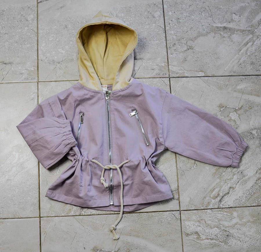 Ветровка розового цвета с капюшоном для девочки, Fuluwa Kids