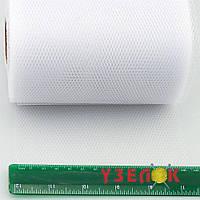 Вуаль-сетка, 15 см, (цвет: белый), цена за 1 метр