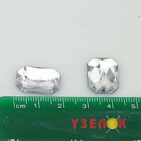 Камни пришивные Восьмиугольник 13х18 (цвет: прозрачный), цена за 1шт