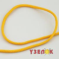 Шнур для одежды 5мм круглый (цвет: светло-желтый) S-132, цена за 1м