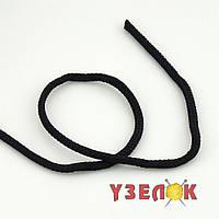 Шнур для одежды с наполнителем 5мм (цвет: черный) 171Ф , цена за 1м