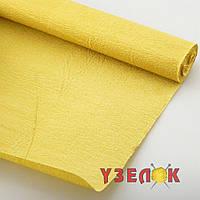 Бумага гофрированная (цвет:54, бледно желтая) цена за рулон