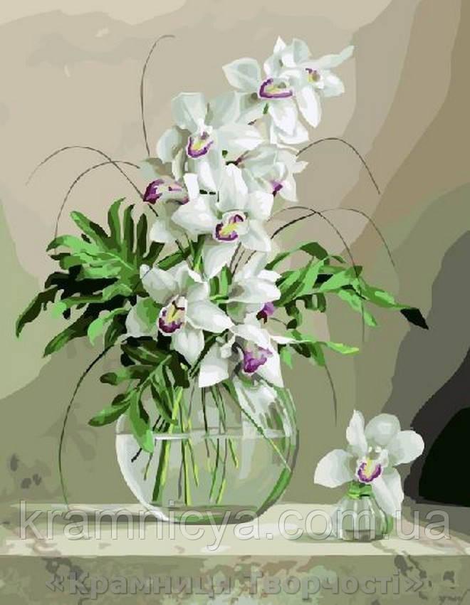 Картина по номерам Brushme 40х50 Орхидеи в вазе (GX21177)