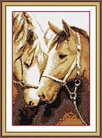 Набор алмазной живописи - №30107 Преданность (лошади)