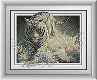Набор алмазной живописи - №30123 Белая молния (тигр)