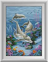 Набор алмазной живописи - №30059 Семья дельфинов