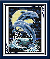 Набор алмазной живописи - №30245 Дельфины