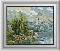 Набор алмазной живописи - №30547 Озеро в горах