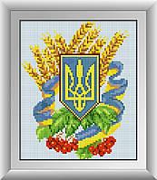 Набор алмазной живописи - №30112 Герб Украины 3