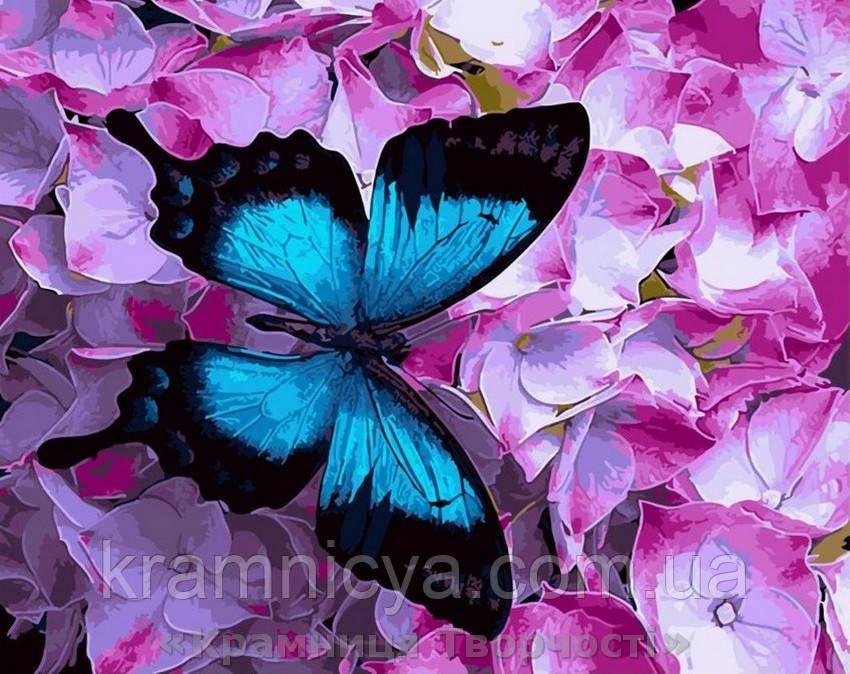 Картина по номерам Brushme 40х50 Бабочка на цветах (GX21627)