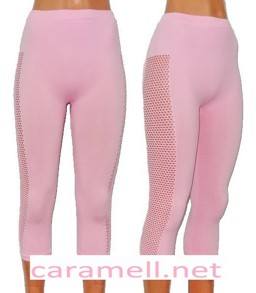 Капри женские Сбоку дырки по всей ноге Размер 46 - 50 Разные цвета