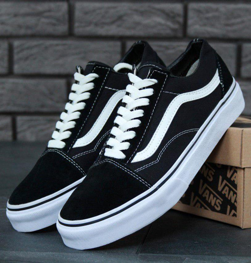 fb5166586 Кеды Vans Old Skool Black White, Кеды Ванс Олд Скул черные -  интернет-магазин