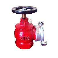 Вентиль пожарный Ø-50 угловой чугун (клапан пожарный) с ГРН-50, Китай