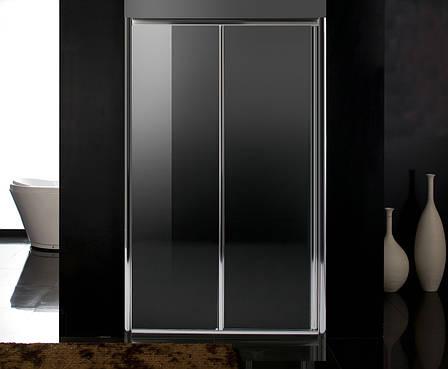 Дверь в нишу раздвижная 120*195, профиль хром, стекло прозрачное 5 мм, фото 2