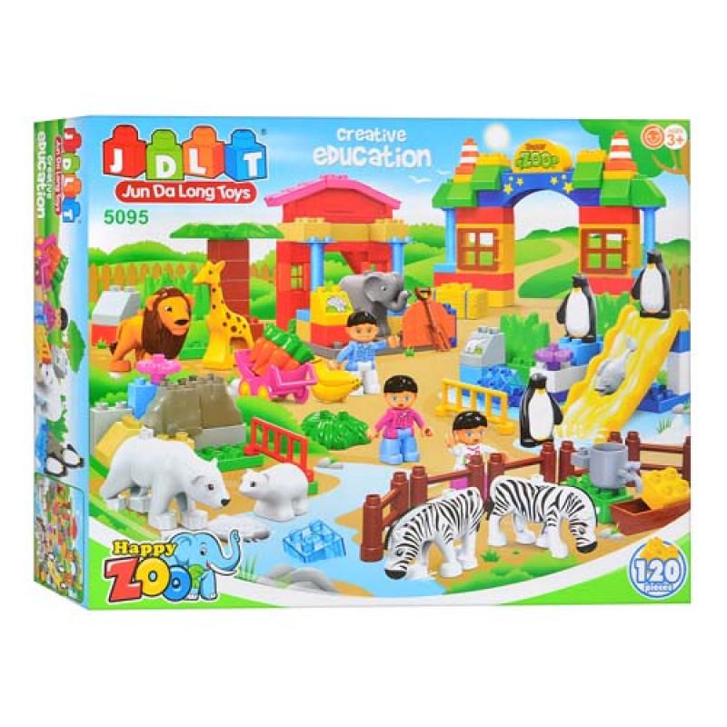 """Конструктор детский JDLT 5095 аналог Lego Duplo """"Зоопарк"""" 120 деталей"""