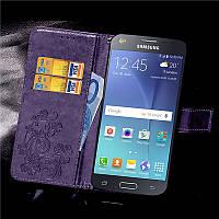 Чехол Clover для Samsung Galaxy J7 2015 J700 книжка женский Purple
