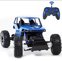 Детская машина-джип, машина на радиоуправлении, игрушечная машинка 0135 р/у 2,4G, аккумулятор (синяя)