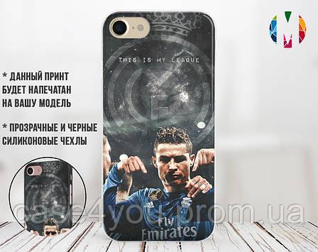 Силиконовый чехол для Apple Iphone X (Ronaldo), фото 2