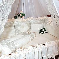 Комплект в детскую кроватку, постельное,  бортики., фото 1