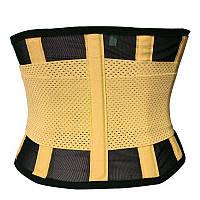 Пояс для похудения Hot Shapers Belt Power на липучке темно-желтый L R142053