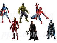 Вафельная картинка Мстители 5
