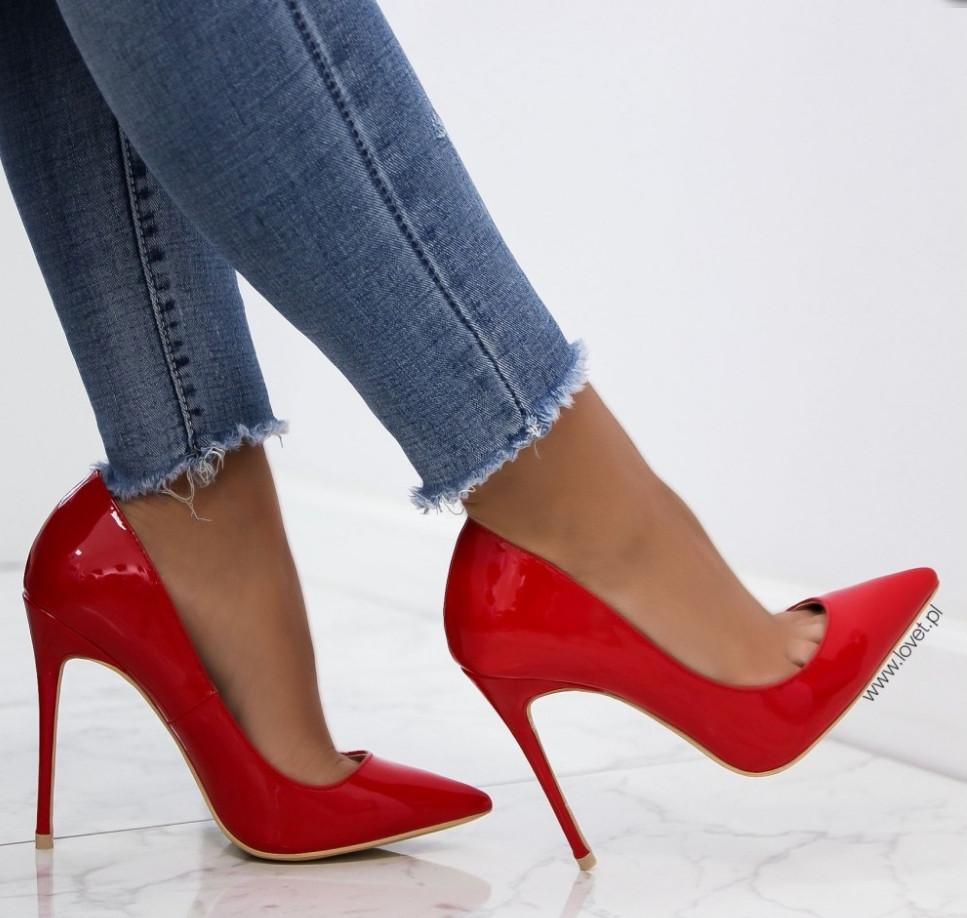 178fc229d Туфли лодочки каблук шпилька недорого красный лак - интернет-магазин обуви