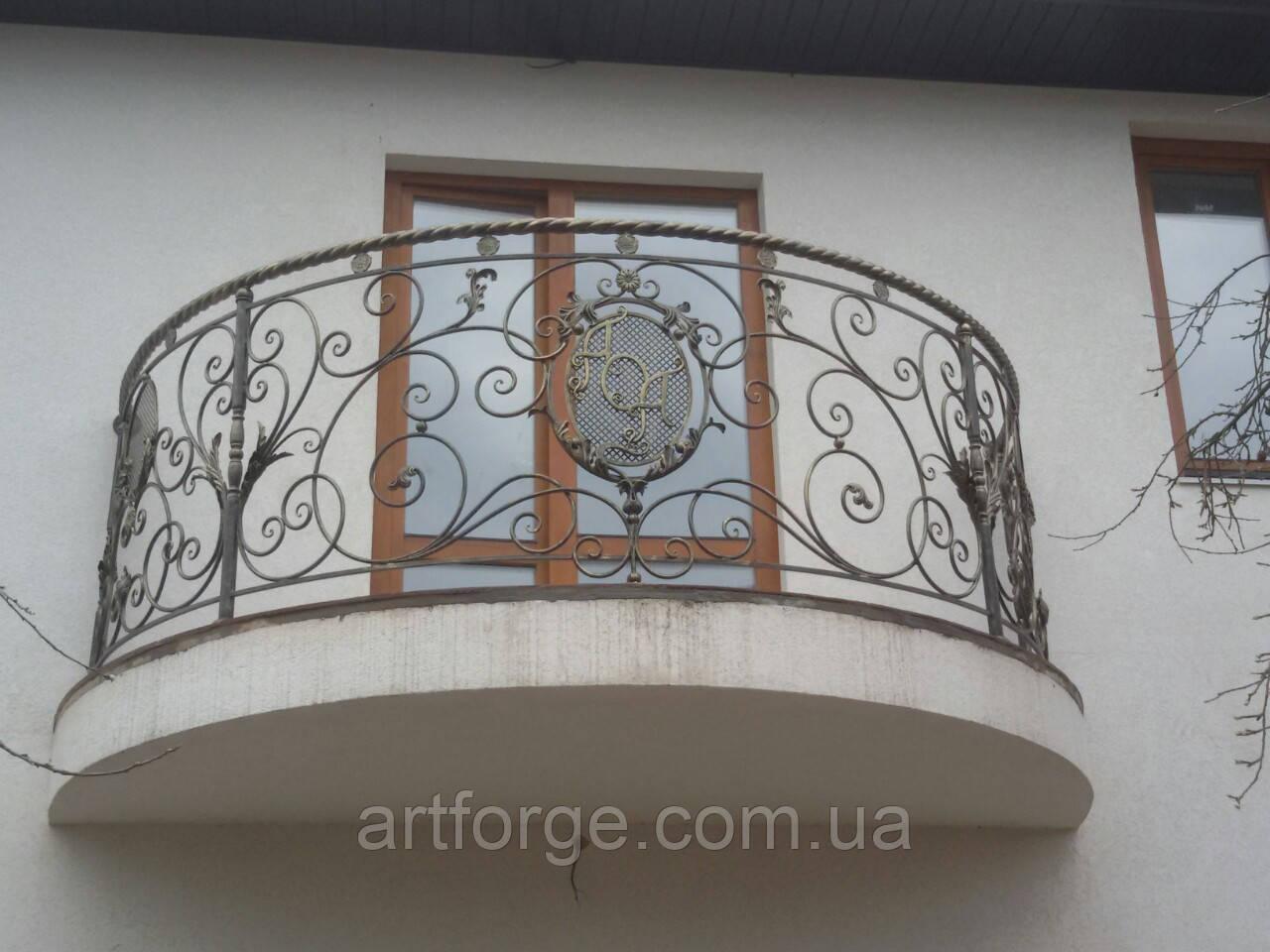 Кованый балкон. Ограждение балкона.