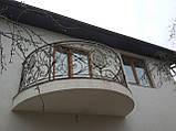 Кованый балкон. Ограждение балкона., фото 4