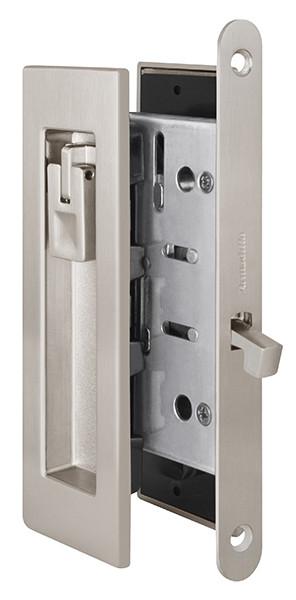 Ручки с замком для раздвижных дверей Armadillo SH011 URB SN-3 Матовый никель