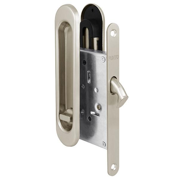Защелка с ручками для раздвижных дверей Punto Soft LINE SL-011 SN