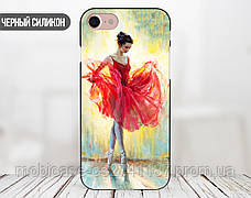 Силиконовый чехол для Samsung G925 Galaxy S6 Edge (Балерина в красном), фото 2