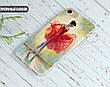 Силиконовый чехол для Samsung G925 Galaxy S6 Edge (Балерина в красном), фото 4