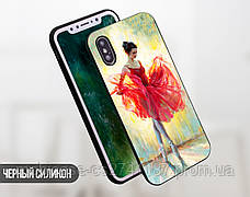 Силиконовый чехол для Samsung J330F Galaxy J3 (2017) (Балерина в красном), фото 2