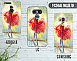 Силиконовый чехол для Samsung J330F Galaxy J3 (2017) (Балерина в красном), фото 5