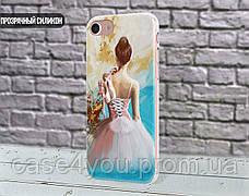 Силиконовый чехол для Apple Iphone X (Балерина и пуанты), фото 2