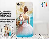 Силиконовый чехол для Samsung J500H Galaxy J5 (Балерина и пуанты)