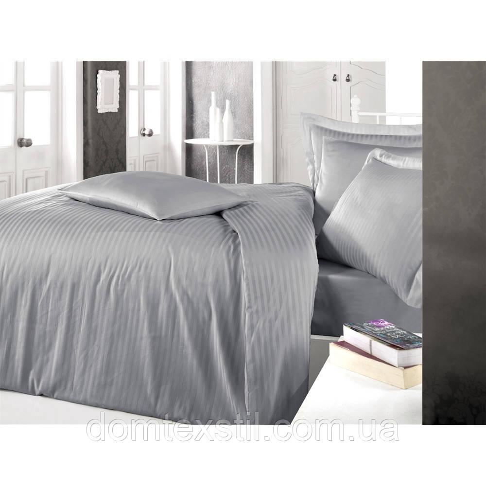 Страйп-сатиновое постельное белье евро размер Турция