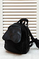 Рюкзак-трансформер кожзам 509 черный 20х12х9 см