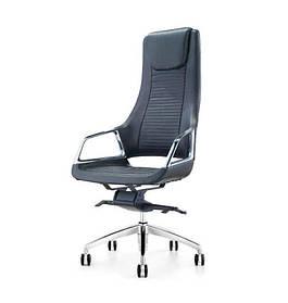 Кресло Бристон AL-MB хром кожа люкс комбинированная LC-А (АКЛАС-ТМ)
