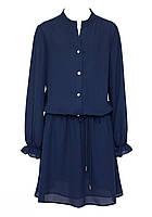 Сукня шкільна для дівчинки SLY 203/S/19 синє 140