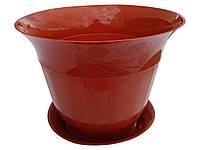 """Горшок для цветов """"Молдавия"""" с подставкой 7 литров коричневый(ЧП КВВ), фото 1"""