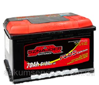 Акумулятор автомобільний Sznajder Plus +Ca 70AH R+ 600А (57038)