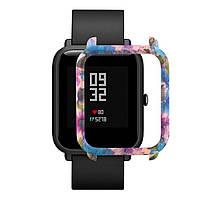 Накладка бампер для часов Xiaomi Amazfit Bip Цветы (1010591)