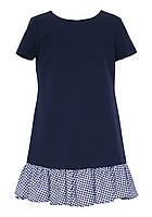 Сукня шкільний для дівчинки SLY 204/S/19 синє 134